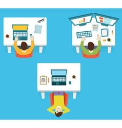 Human resources and hardwork vector