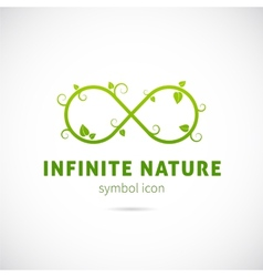 Infinite Nature Concept Symbol Icon or Logo vector image