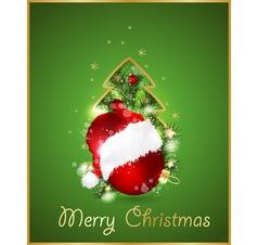 Merry Christmas Elegant background vector image vector image