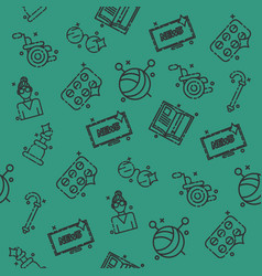 old age pattern vector image