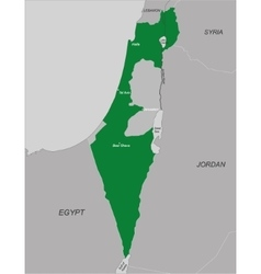 Political map of Israel vector image
