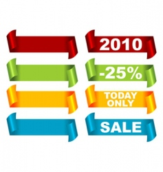 promo ribbons vector image vector image