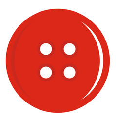 Red sewing button icon isolated vector