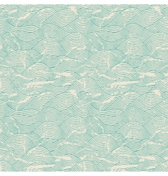 Seamless Wave Pattern Background vector image