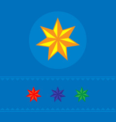 set of stars of web icons banner vector image