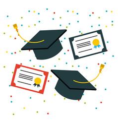Student graduate flat vector