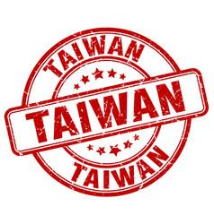 Taiwan red grunge round vintage rubber stamp vector