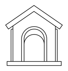 Toy house at playground icon outline style vector