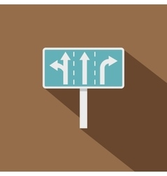 Traffic lanes at crossroads junction icon vector image
