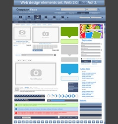 web design elements blue 2 vector vector image