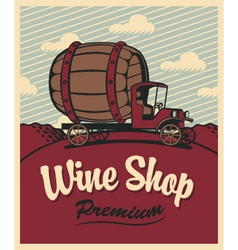 Wine shop vector