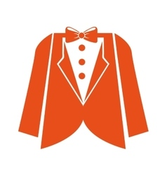 Suit gentleman isolated icon vector