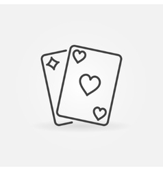 Pair of playing cards icon vector