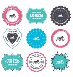 Swimming sign icon pool swim symbol vector