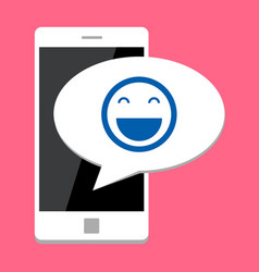 Mobile phone with smile vector