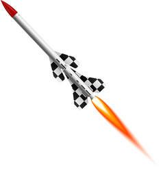 Flying two-stage rocket vector