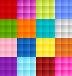 Patchwork square background vector