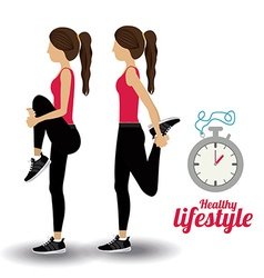 Healty lifestyle design vector