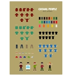 Casual people part 2 vector
