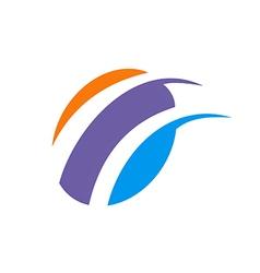Abstract loop technology logo vector