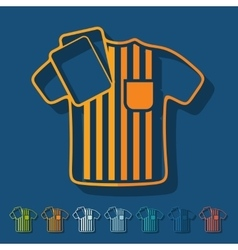 Flat design referee vector