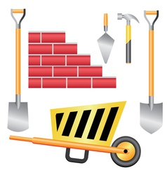 basic construction tools set vector image