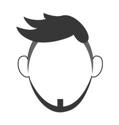Faceless man with beard portrait icon vector