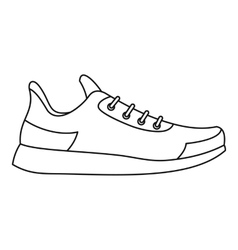 Athletic shoe icon outline style vector