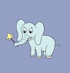 baby elephant cartoon vector image