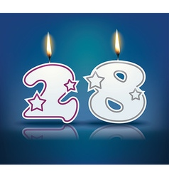 Birthday candle number 28 vector