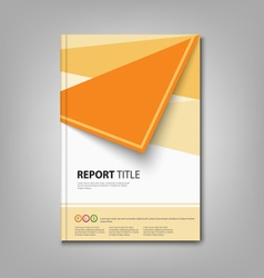 Brochures book or flyer with orange abstract vector image vector image