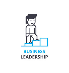 business leadership concept outline icon linear vector image vector image