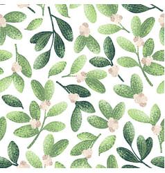 Chrstmas mistletoe pattern vector