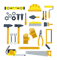 Construction tools set industrial icons in vector
