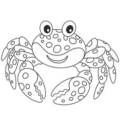 Crab with spots vector image vector image