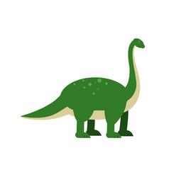 cute cartoon green brachiosaurus dinosaur vector image vector image