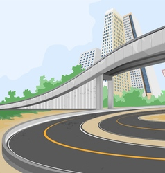Elevated road scene vector