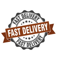 fast delivery stamp sign seal vector image vector image