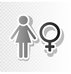 Female sign new year vector