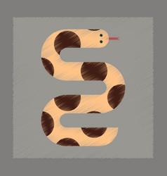 flat shading style icon wildlife snake vector image