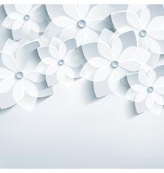Floral lace background 3d flower vector image vector image