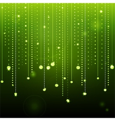 Glowing green diamond background vector