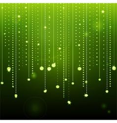 glowing green diamond background vector image