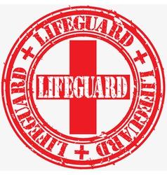 Lifeguard stamp vector