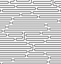 Maze style horizontal pattern - rounded lines vector