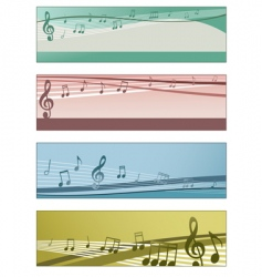 musical banners vector image