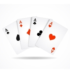 Playing Poker Cards vector image vector image