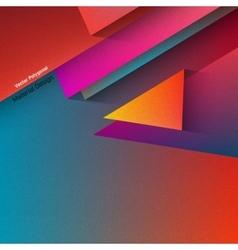 Polygonal Material Design vector image