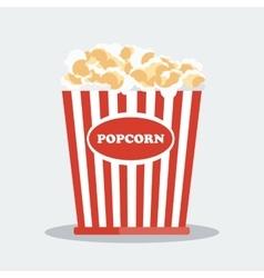 pop corn in red box vector image