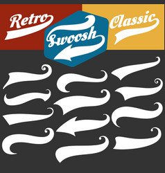retro sports swoosh tails set vector image